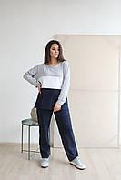 """Трикотажный женский спортивный костюм """"Yein"""" с контрастными вставками (большие размеры)"""