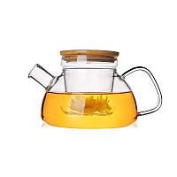 Чайник с бамбуковой крышкой, чайник с ситом, заварник