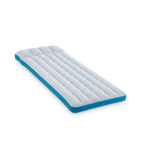 Надувной велюр матрас-кровать INTEX 67998 серо-голубой**