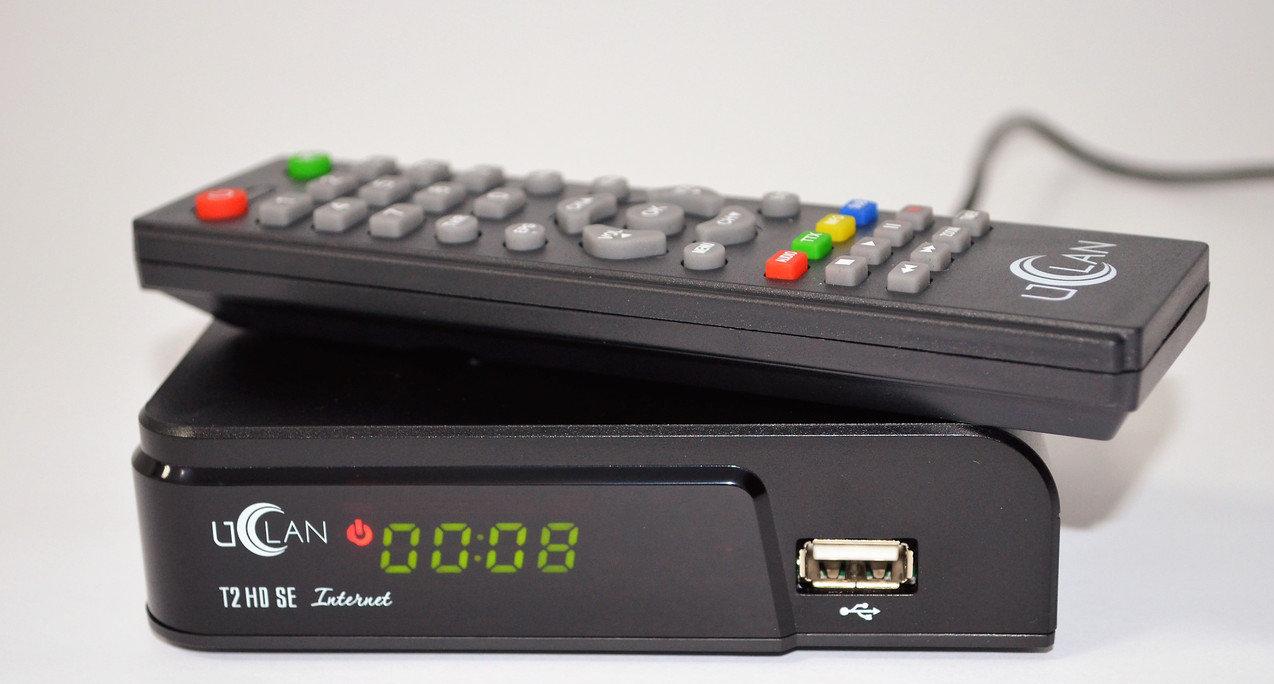 Ефірний цифровий приймач Т2 Uclan T2 HD SE Internet тюнер-приставка DVB-T2