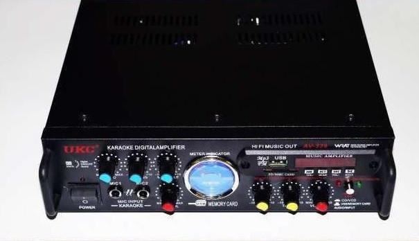 UKC AV-339A Усилитель Звука  + USB с караоке