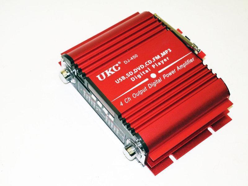 UKC DJ-450 Усилитель звука USB + Mp3 2*55W