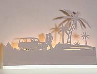 Настенный светодиодный светильник(бра) 9289/6 White 12w