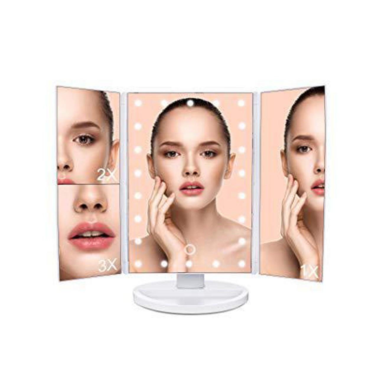 LED Зеркало с подсветкой для макияжа Superstar Magnifying Mirror Опт
