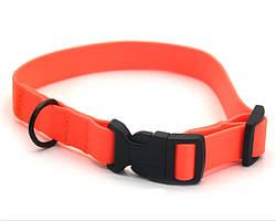 Ошейник для собак 2,0 см биотановый оранжевый 1023