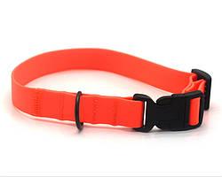 Ошейник для собак 2,5 см биотановый оранжевый 1027