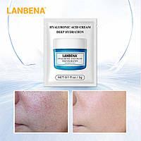 Крем для лица увлажняющий с гиалуроновой кислотой LANBENA Hyaluronic Acid (саше 3 г)