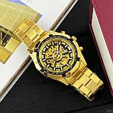 Чоловічі годинники Forsining 8042 Gold-Black, фото 4