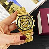 Чоловічі годинники Forsining 8042 Gold-Black, фото 5