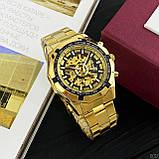 Чоловічі годинники Forsining 8042 Gold-Black, фото 6