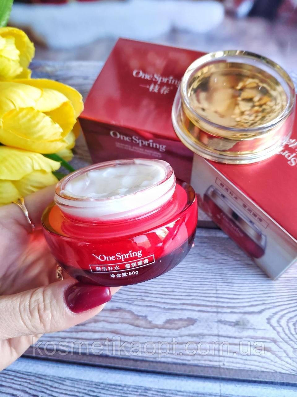 Омолаживающий крем для лица с экстрактом граната One Spring Red Pomegranate Cream (50г)