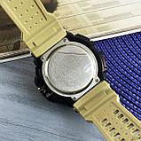 Skmei 1343 Black-Khaki Wristband, фото 6