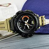 Skmei 1343 Black-Khaki Wristband, фото 7