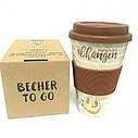 Кофейная кружка Единорог ToGoBecher 350ml Bambus EINHORN, фото 3