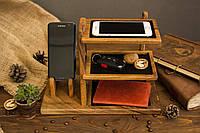 Деревянный Органайзер для Телефона «Органайзер для аксессуаров»