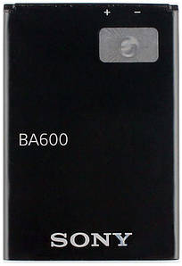 Аккумулятор АКБ Sony BA-600 для Sony ST25i Xperia U (Li-ion 3.7V 1290mAh) Оригинал Китай