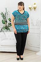 Брючный костюм женский большой размер р. 54-68 лео, фото 1
