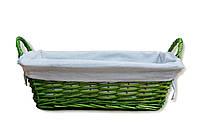 Корзина прямоугольная зеленая, 20х38х12 см (FG-03S)