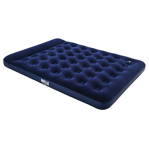 Надувной велюр матрас-кровать BESTWAY 67226 с подголовником синий**