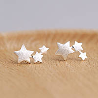 Бижутерия Серьги гвоздики звезды- стерлинговоесеребро