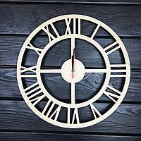 Бесшумные настенные часы из дерева в интерьер с универсальным дизайном, фото 1