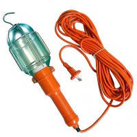 Світильник переносний з вимикачем 10м,лампа-переноска гаражна 220В, фото 1
