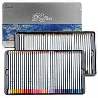 Карандаши цветные Marco Raffine 72 цвета в металл. кейсе (7100-72TN)