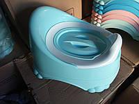 Горщик дитячий з кришкою Comfort Турция11103 блакитний