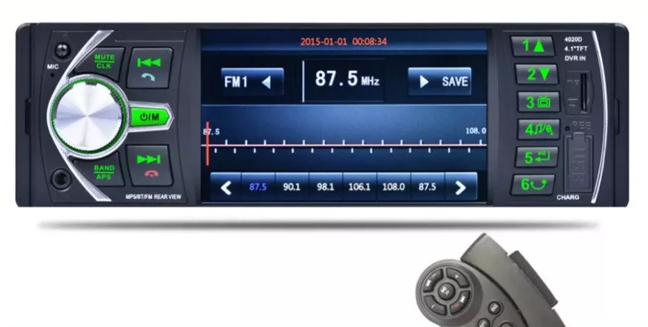"Магнитола Pioneer 4020D, 4.0""c USB,+Пульт на руль"