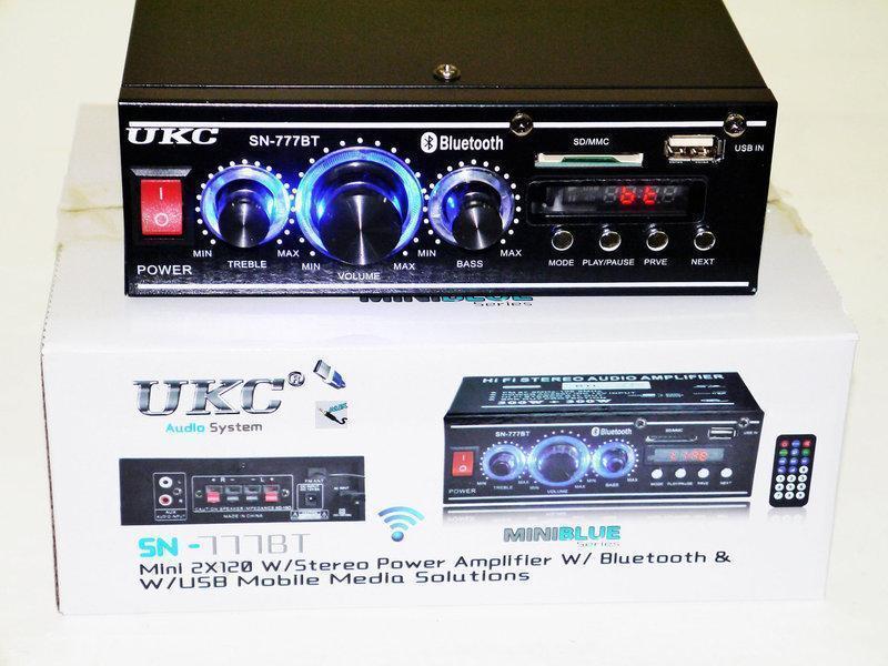 Стерео Усилитель звука UKC SN-777BT Bluetooth НЕДОРОГО