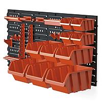 Гаражная полка, настенный органайзер с лотками для инструментов 40x80x20 см / MAMMOOTH