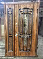 Двери входные Пегас со стеклом полуторные серии Классик ТМ Каскад