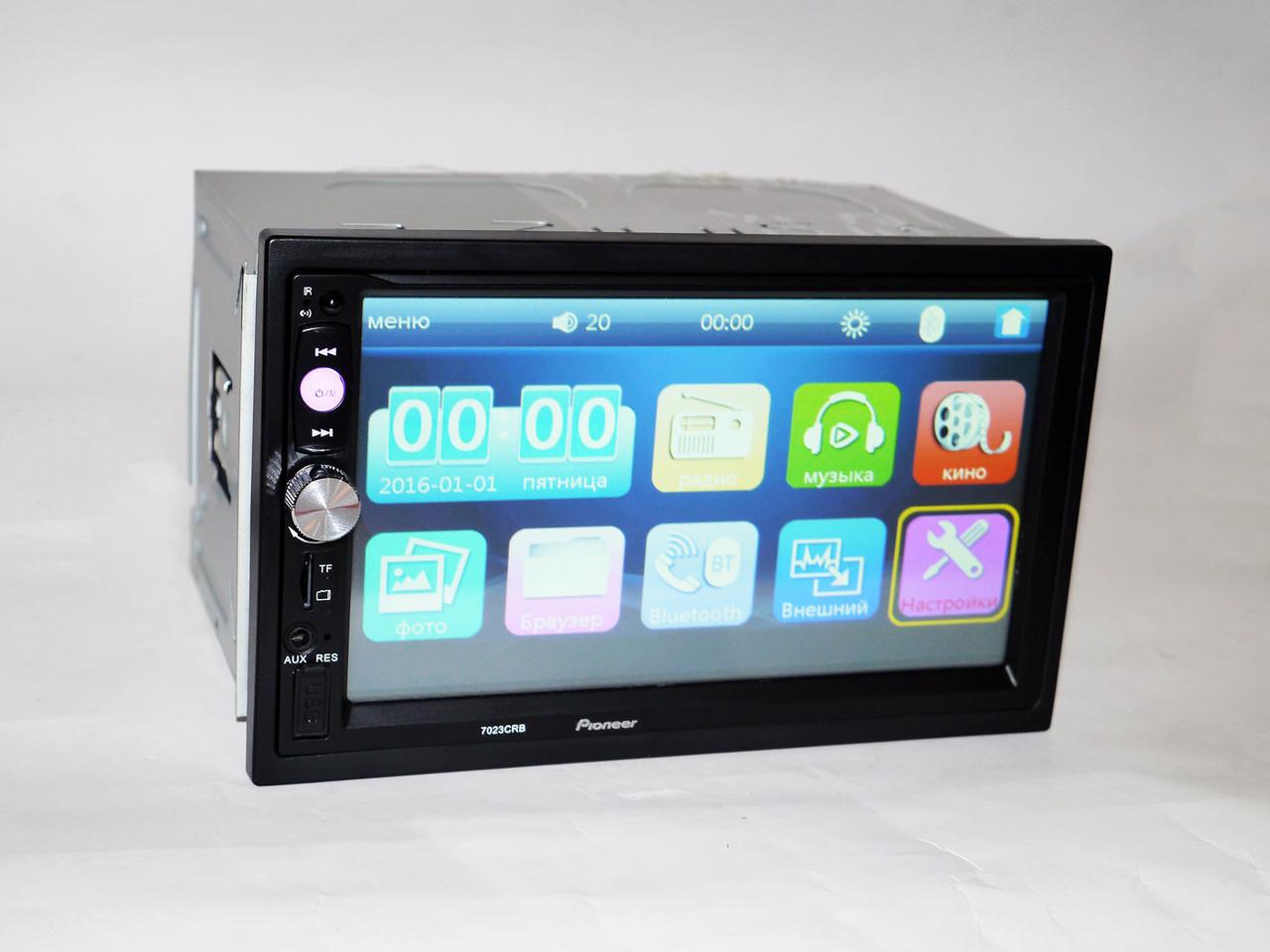 "Магнитола 7"" Экран 2din Pioneer 7040 (пульт на руль, AV-in)"