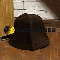 Шапка для бани и сауны из шлифованного пуха сибирского кролика Fassbinder™, коричневая