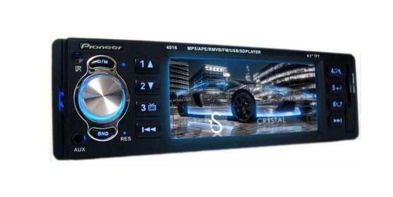 Магнитола для автомобиля Pioneer 4016 c экраном 4.1 дюйма! Недорого