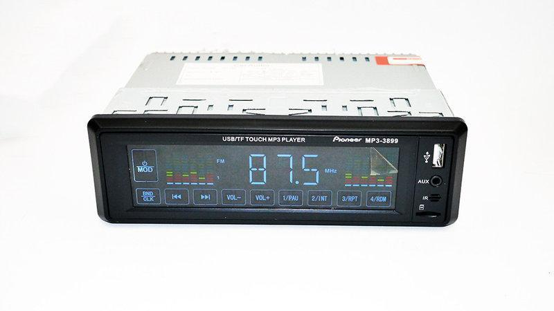 Pioneer 3899 ISO - MP3 Player, FM, USB, SD, AUX сенсорная панель