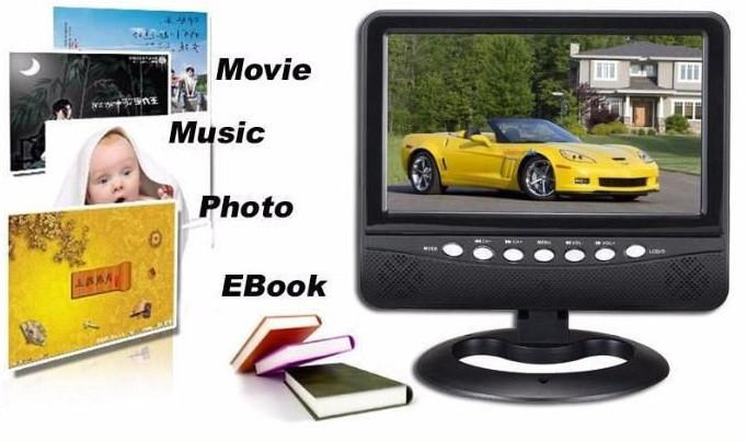 """Портативный телевизор UKC UK-901TV (USB, SD, 9""""экран, 16:9)"""