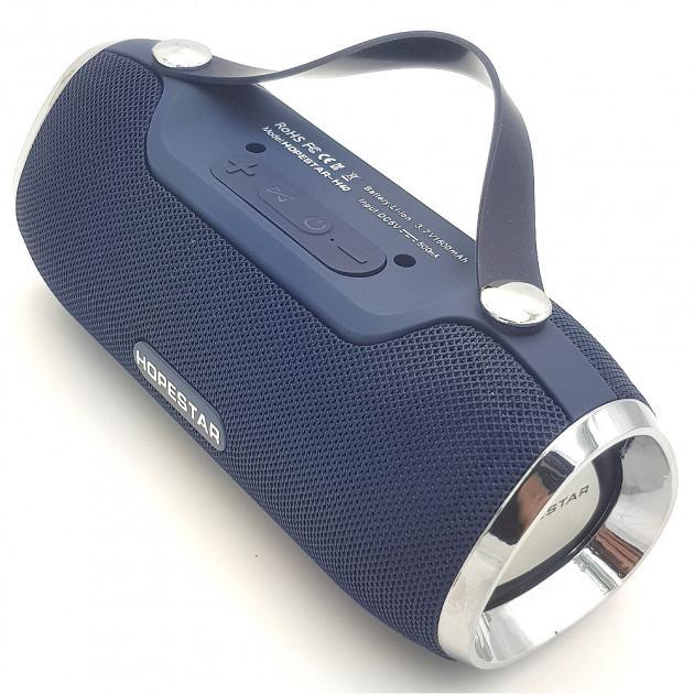 Bluetooth колонка  акустика FM MP3 AUX USB Hopestar H40 темно синя