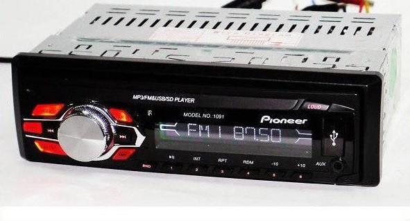 Магнитола для Автомобиля Pioneer 1091 Съемная Панель