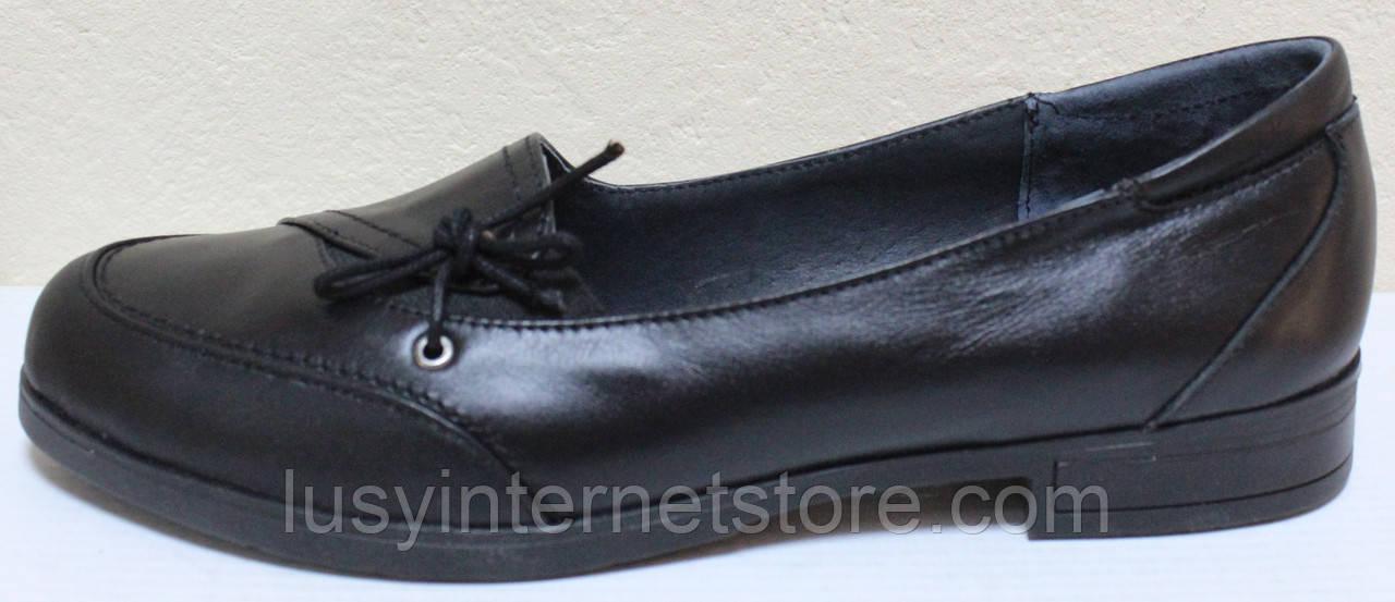 Женские туфли большого размера кожаные от производителя модель ВБ1014