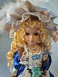 Кукла колекционная фарфоровая  Анна высота 42 см, фото 3