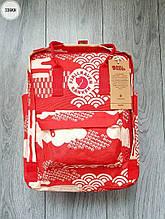 Рюкзак шведської марки Kanken Fjallraven (червоний) 336KN