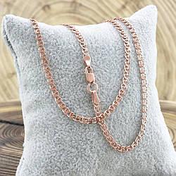 Серебряная цепочка позолоченная Love длина 55 см ширина 2.5 мм вес 4.1 г