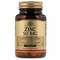 Цинк, 50 мг, Solgar, 100 таблеток