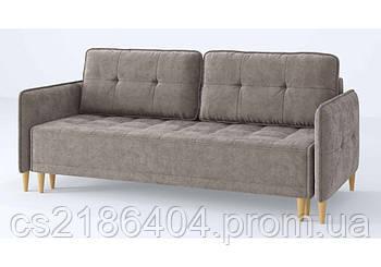 Прямий розкладний диван у сірій якісній тканині Jersey / Джерсі