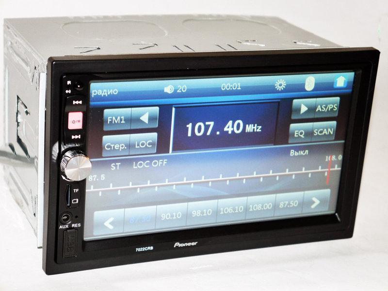 """Магнитола Pioner 7022 CRB 7"""" Экран  (AV-in , пульт на руль)"""