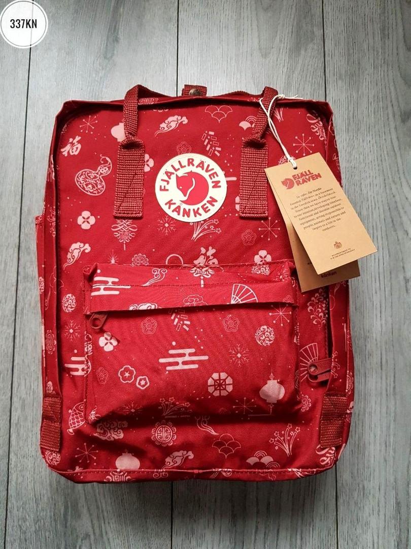 Рюкзак шведской марки  Kanken Fjallraven (бордовый) 337KN
