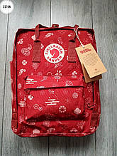 Рюкзак шведської марки Kanken Fjallraven (бордовий) 337KN
