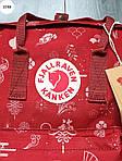 Рюкзак шведської марки Kanken Fjallraven (бордовий) 337KN, фото 4