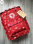Рюкзак шведской марки  Kanken Fjallraven (бордовый) 337KN, фото 7